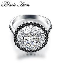 Цветок 925 пробы серебряные ювелирные изделия модные обручальные Bague Femme для женщин обручальные кольца Anillos De Plata 925 De Ley C046