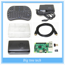 Raspberry Pi 3 комплект Raspberry Pi 3 Модель B + Два Случаи Raspberry Pi + Мини Беспроводной i8 Клавиатура wi-fi + 8 ГБ Карты