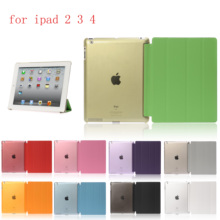 HUEVN PC Leather  Case for Apple iPad 2 3 4Fashion Smart Cover + PC translucent back Cover for A1460`A1459`A1458`A1416`A1430 painting wallet shell for apple ipad 2 3 4 a1460 a1459 a1458 9 7 inch coque fundas pu leather case cover for a1416 a1430 a1403