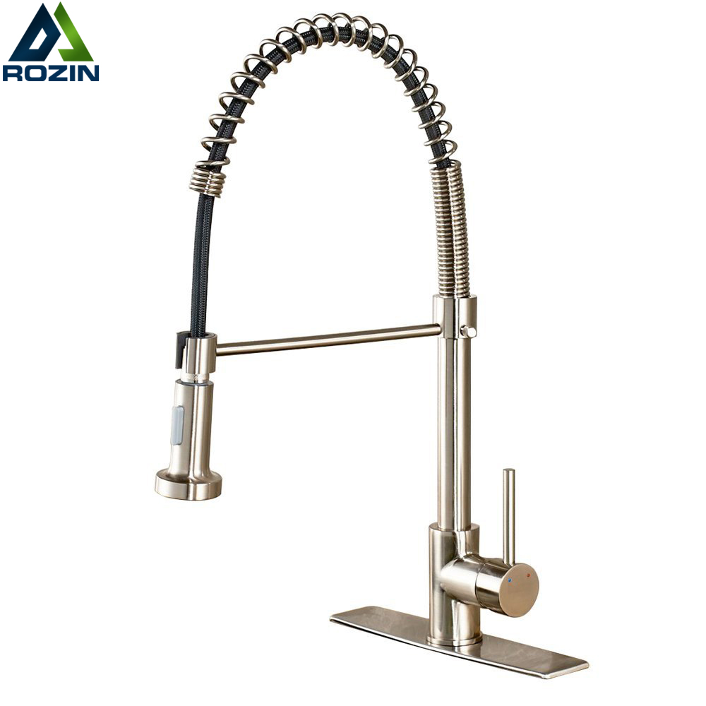 Deck Mounted Bathroom Kitchen Sink Faucet Crane Dual Spout Nozzle Kitchen Tap with Hot and cold Water Pull Down Spout акриловая ванна santek канны