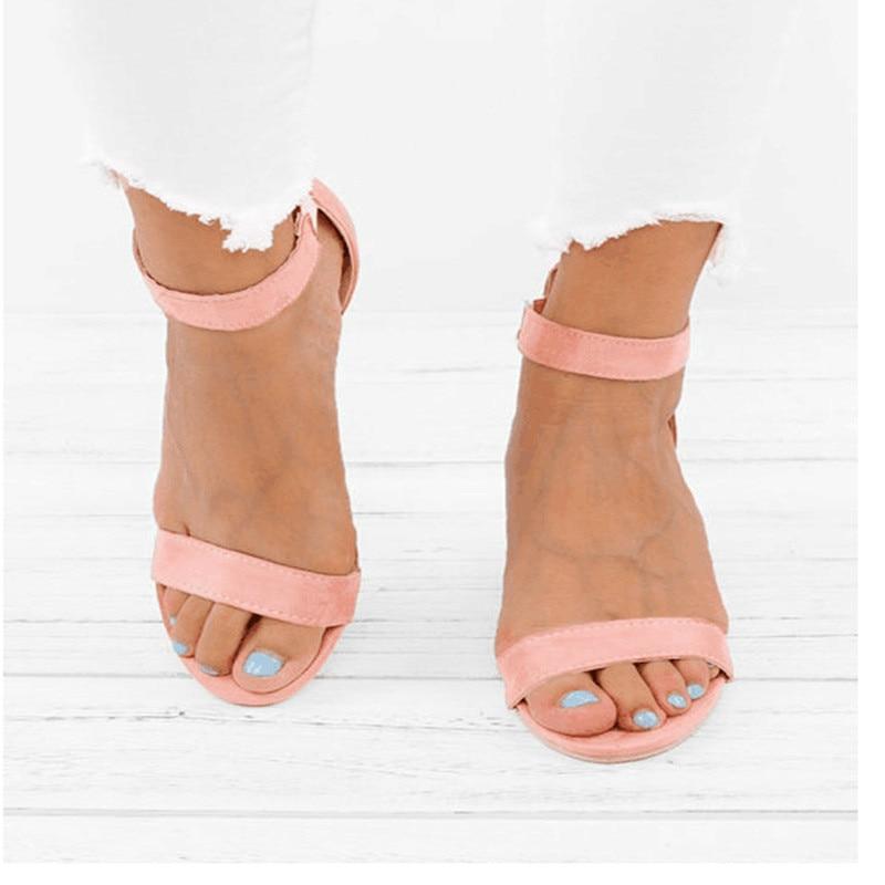 2019 marrón Tacones Mujeres Cuña Mujer Verano Sandalias claro Las Zapatos Negro De rosado Damas Cabestrillo Casuales Vintage Chaussure 0rwXUZq0