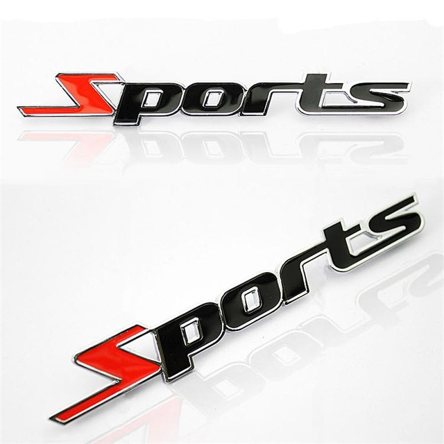 スポーツバージョンの金属車のラベリングスポーツワード文字 3D クローム金属車のステッカーエンブレムバッジデカール自動車 @ 11215 @ @ @