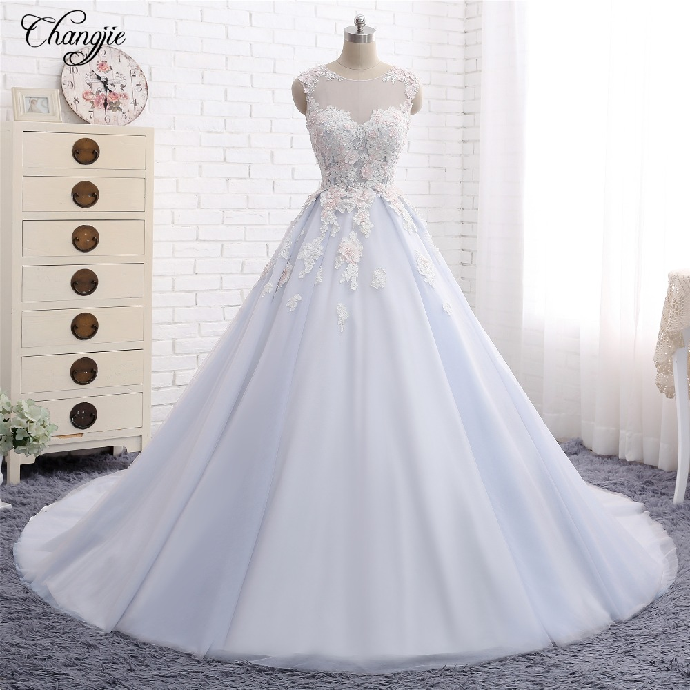 Vestido De Noiva 2017 New Elegant Lace Applique Tulle: Aliexpress.com : Buy Vestido De Noiva New Luxury Wedding