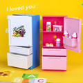 Dollhouse Furniture Play Set Doll Sweet Pink Blue Refrigerator Freezer For Barbie