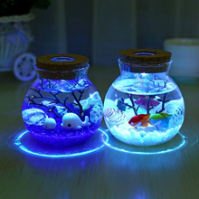 DIY Birthday Party Decorations Kids LED Miniature Seabed Landscape Aquario Home Decoration Accessories Decoracao Para Casa