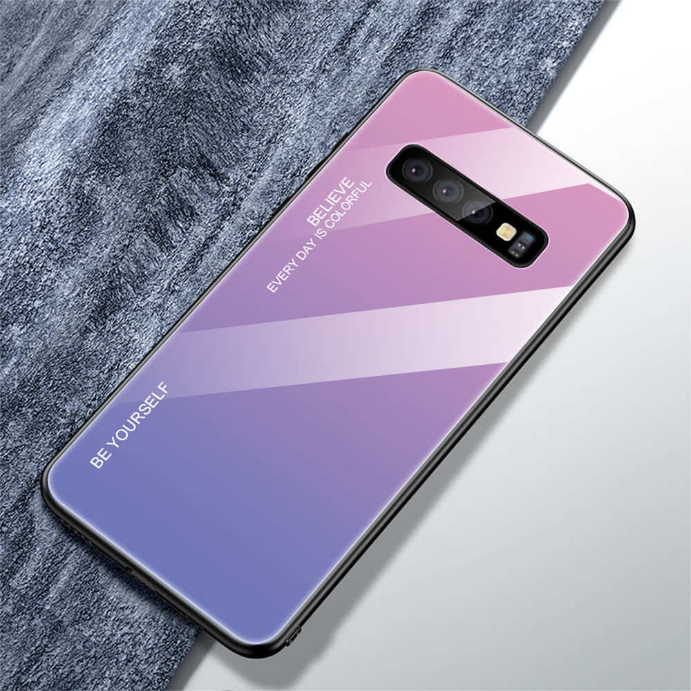 For Samsung Galaxy S10 Plus S10 Lite Case Gradient Tempered Glass Phone Cases For Samsung S10 S9 S8 Plus Note 9 Note 8 Cover     (17)
