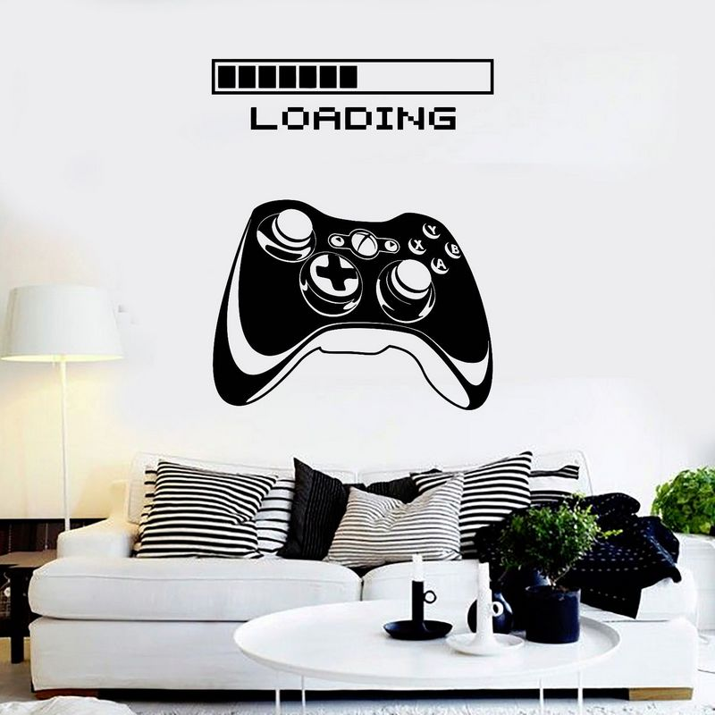 Game Room Handle Sticker Gamer Decal Gaming Posters Gamer