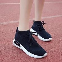 Bán Hàng nóng 2017 New Mùa Thu Zapato Phụ Nữ Lưới Thoáng Khí Zapatillas Giày Vớ Phụ Nữ Mạng Mềm Giày Casual Hoang Dã Flats Casual