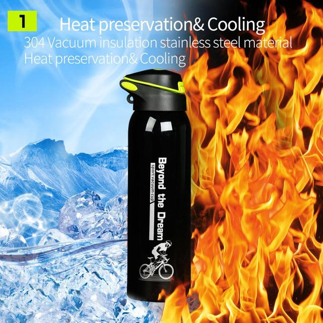 500 ML Bike Water Bottle Outdoor Sport Portable Bicycle Kettle Warm-keeping Water Bottle Aluminum Alloy Mountain Cycling Bottle