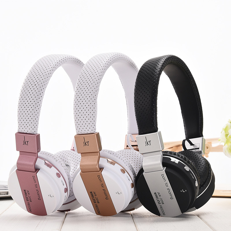 JKR 219B Wireless Bluetooth Headset Headphone Mic Soft Earmuffs Noise Cancelling Stereo Sound For PC Smarthone