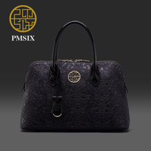 Pmsix 2017 New Chinese style embossed handbags autumn and winter brand bags simple women bag P140013