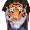 2017 nueva ENORME Lujo Enfriar la Cabeza Del Tigre Tigre Blanco Cabeza estilo Bolsa Mochila mochila bolsas tigre 2 tamaños envío de la gota