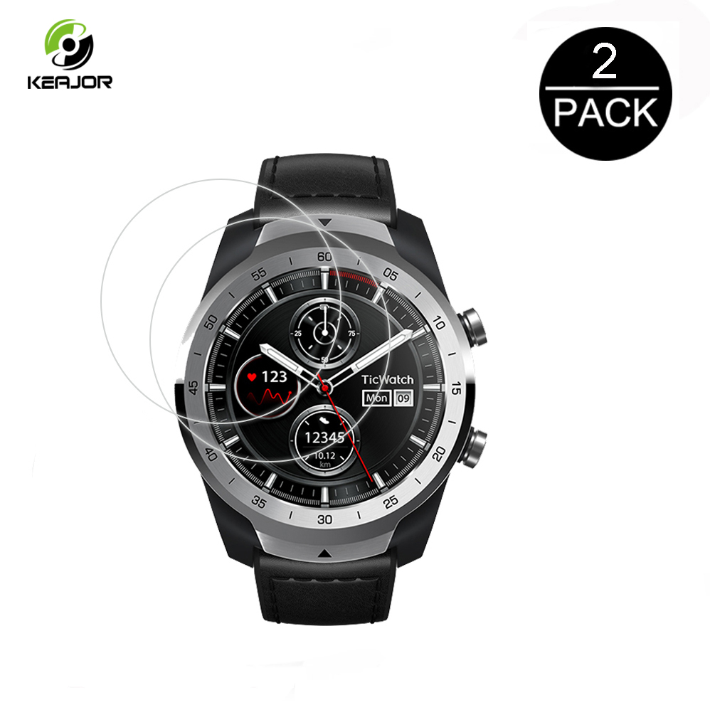 2Pcs Glass For Ticwatch Pro Tempered Glass 2.5D 9H Clear Screen Protector Scratch Proof Film For Ticwatch Pro Smartwatch Glass