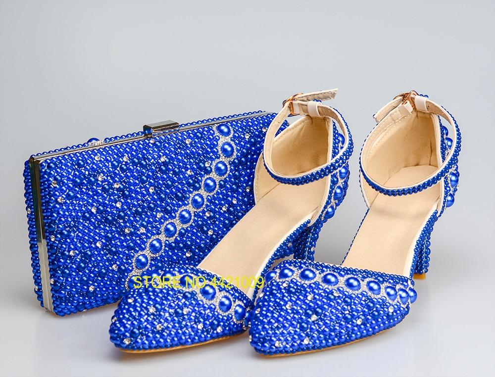 b1ad9e32ded66f Talons 2018 Shoes And Pour Perle Mariage Italienne Sandales Couleur  Ensemble Partie Bag D'anniversaire Cadeau Bleu De Femme Sacs ...