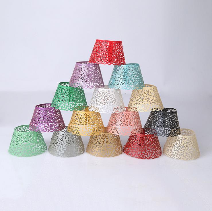 5pcs Multicolor Little Vine Lace Laser Cut Cupcake Wrapper Liner Baking Cup Wedding Birthday Tea Party Home Decoration Tools