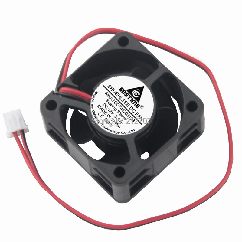 Купить с кэшбэком 5PCS Gdstime DC 12V 2Pin 4cm 4020 40x40x20mm 40mm Processor Cooling Fan