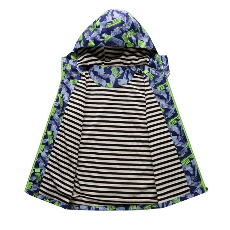 Для мальчиков верхняя одежда пальто новый 2018 Весенняя мода Водонепроницаемый ветрозащитная куртка с капюшоном для От 3 до 12 лет мальчики Ма...