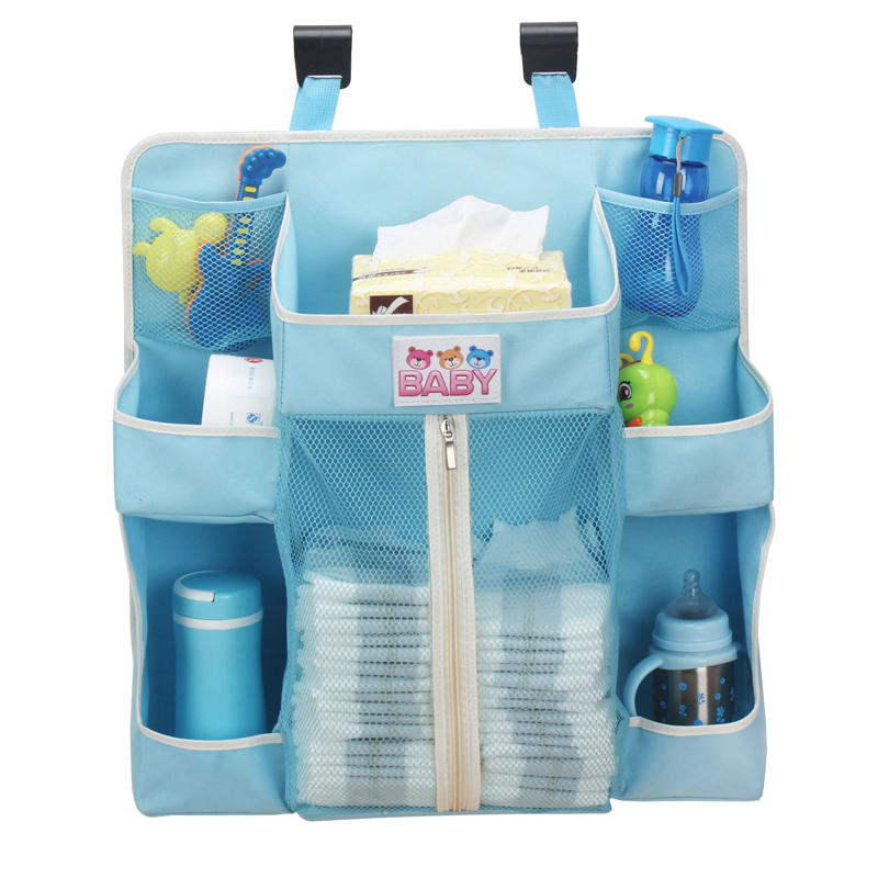 Baby Crib Organizer Foldable Bed Hanging Bag For Infant Bed Accessories Essentials Diaper Storage Box Cradle Bag Bedding Set