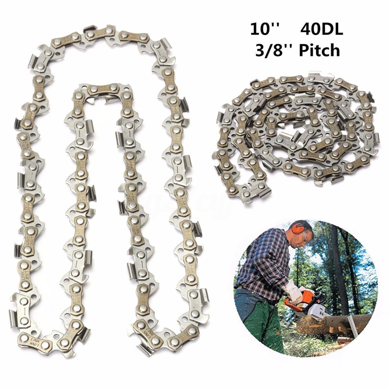 10'' Chainsaw Mill Saw Chain 40DL Drive Links 3/8'' Pitch Replacement Part Chain Saw Chain Wood Cutiing Saw Chain Garden Tool wood cutter chain saw heavy duty gasoline chainsaw 2 stroke 58cc gas chain saw 3000rpm max 10000 rpm eu plug for garden tool