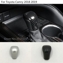 car styling Head Sequin Trim stick Gear Cover Shift knob control 1pcs For Toyota New Camry XV70 2017 2018 2019