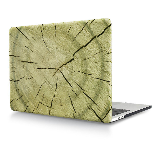 """Wood Grain Pattern Laptop Body Shell Protective Hard Case for 2016 New Macbook Pro 13 A1708 Retina 15"""" A1707 w/without Touch Bar"""
