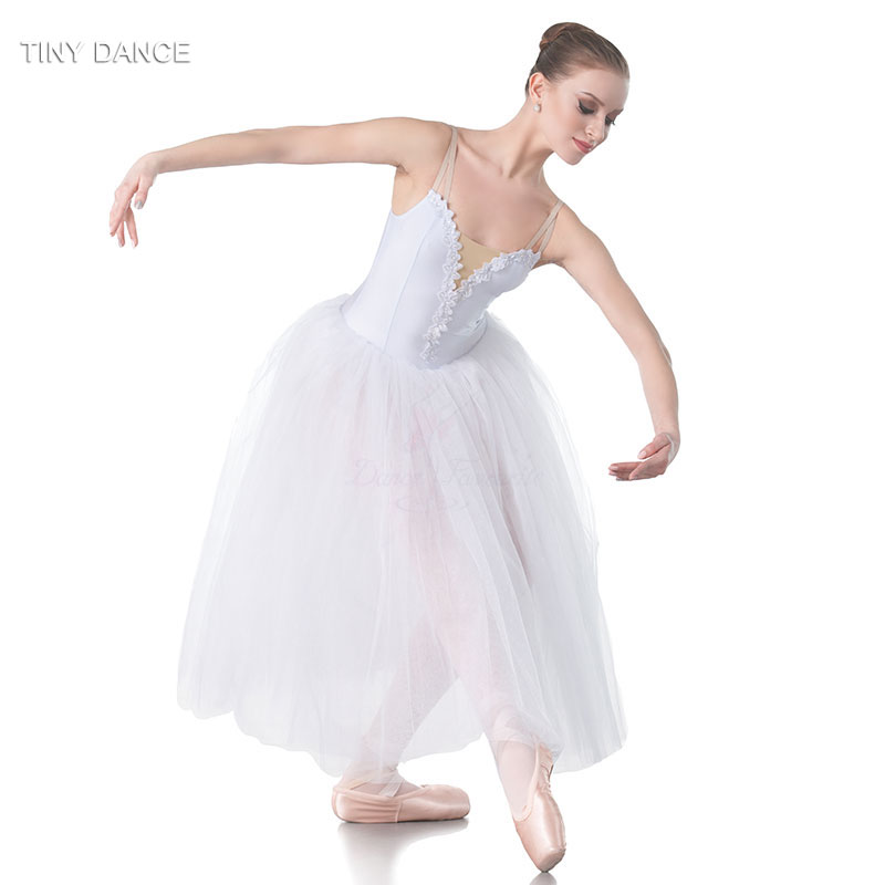 9273cba667a7 2018 Child   Adult Long White Ballet Dance Romantic Tutu with 5 ...