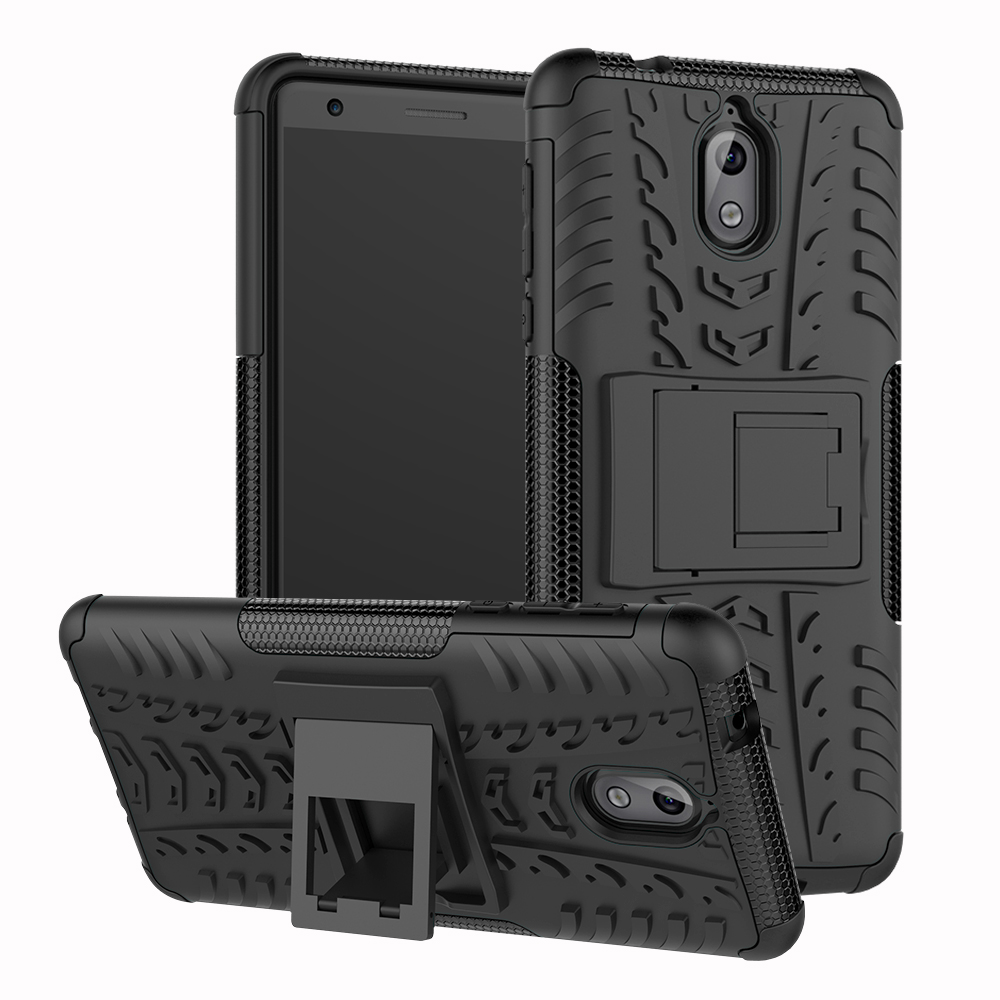 For <font><b>Nokia</b></font> <font><b>3.1</b></font> <font><b>Case</b></font> TPU+PC Heavy Duty Armor Shockproof <font><b>Hard</b></font> Silicone Rubber For Nokia3.1 TA-1049 TA-1057 A-1063 Phone <font><b>Case</b></font> Cover image