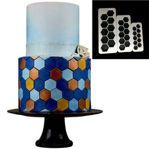 Image 3 - 3pcs כיכר גיאומטרי Cutters יצק קוקי קאטר גיאומטריה עוגת עובש פונדנט תבנית אפיית 6 עיצובים