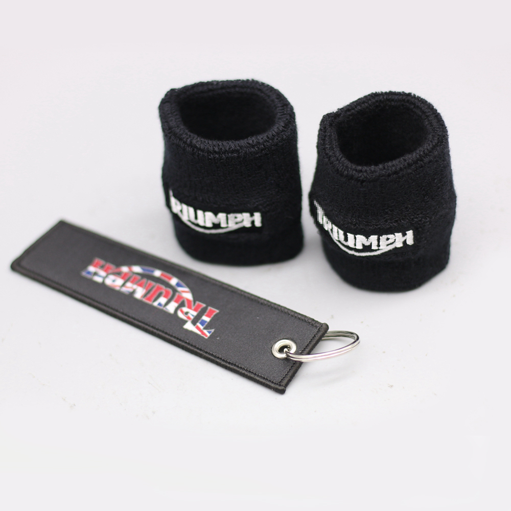 Motorcycle Brake Clutch Reservoir Socks For Triumph DAYTONA 675 955i TIGER 800 1050 Universal Fluid Reservoir Tank Cup Cover cotton motorcycle brake fluid reservoir clutch tank oil cup cover socks for kawasaki ninja ex300 zx636r zx10r z750 z1000 zx12r