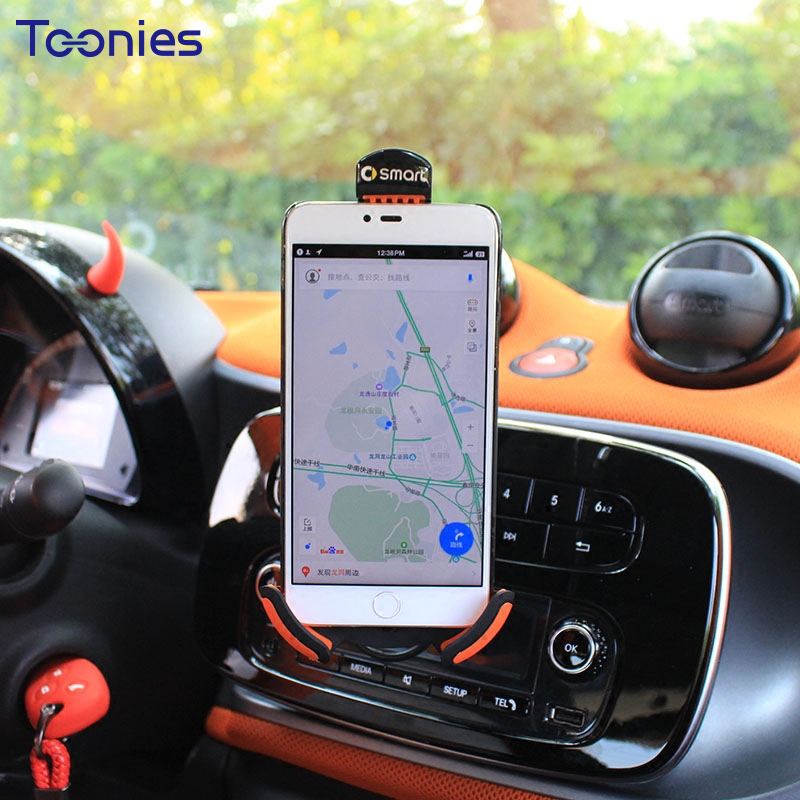 Smart 453 Original Handset Bracket Fortwo Forfour Phone Holder Fashion Car Style Clip Charge Navigation Frame Auto Interior Toys