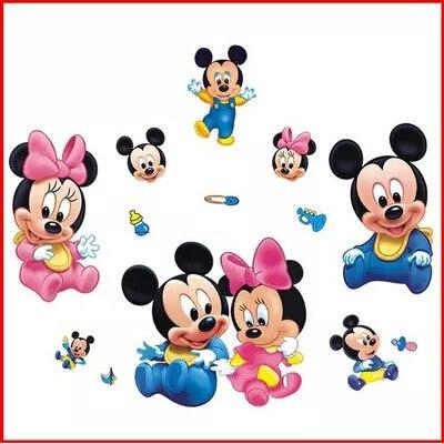 Mickey cartoon kinderkamer muurstickers Papier baby kinderkamer ...