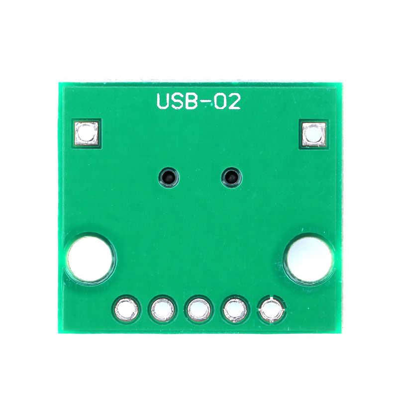2/5/10/20 piezas Mini USB A DIP 2,54mm adaptador conector módulo Panel hembra 5-Pin Pinboard 2,54mm Mini USB PCB tipo piezas