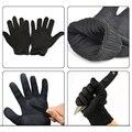 Nível 5 Corte 1 Par Preto Luvas de Segurança de Trabalho Cut-Resistente de Proteção Em Aço Inoxidável Açougueiro do Fio Anti-Corte luvas