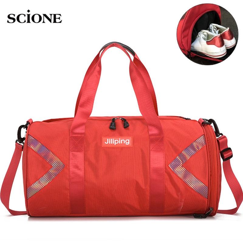 Fitness Gym Bag Nylon Large Training Shoulder Yoga Patchwork Travel Duffel Bags Men Women Outdoor Tas Sac De Sport Bags XA730WA