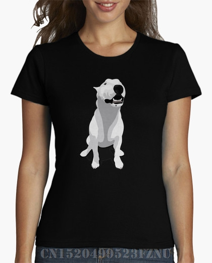 2018 Summer New Arrivals womens t shirt Bullterrier Short sleeves Fashion Knitted funny S-XXXL