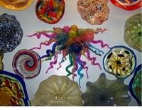 100 Hand Blown Glass Wall Plates And Glass Spirals