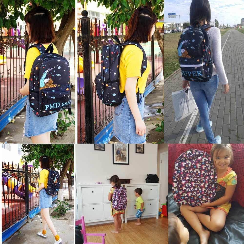 Kawaii 5 por cento unicórnio panda mochila para meninas adolescentes crianças sacos de escola dos desenhos animados mochila crianças saco de livro presente