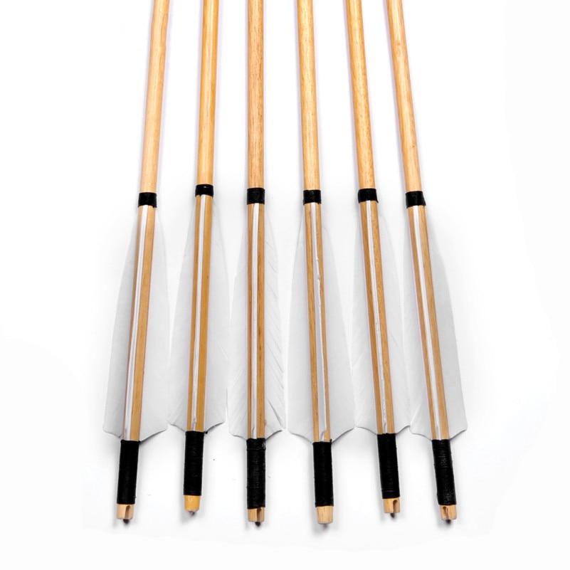 Natural de madeira setas 30 polegadas com