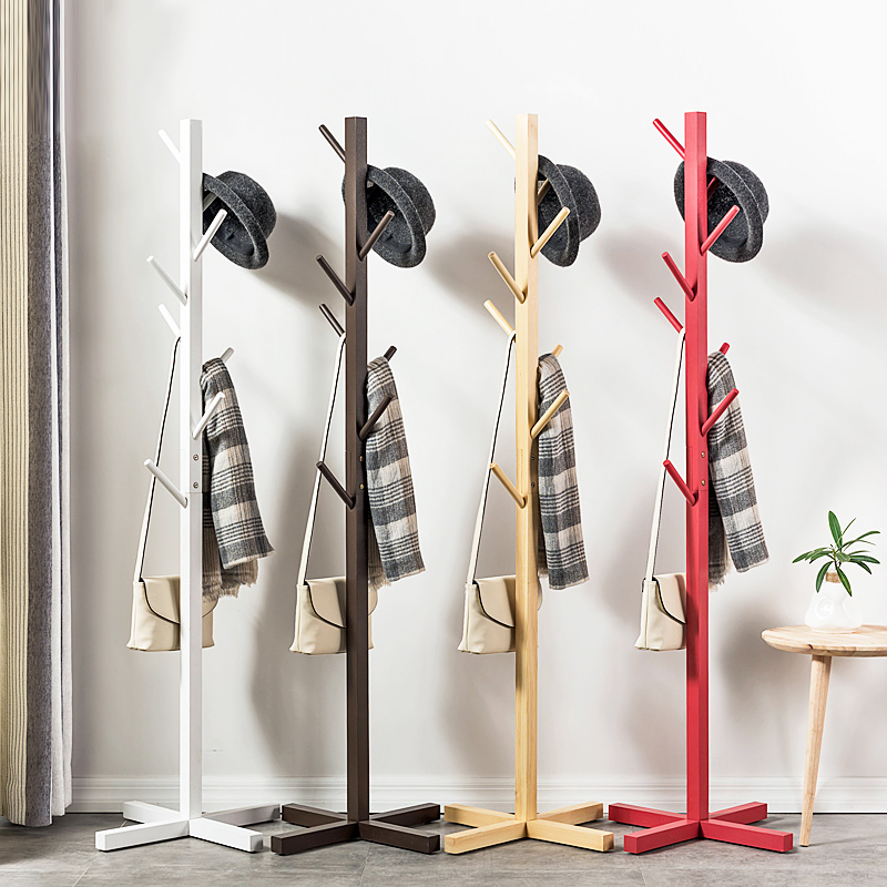 Modern fashion home wooden hanger racks creative upright furniture multifunctional art livingroom storage space saving coat rack lanskaya creative modern minimalist fashion mobile landing tree coat hook home furniture clothes hanger