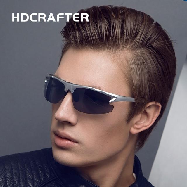 f71da5e4da4 HDCRAFTER Brand Designer Fashion Men s Sunglasses Polarized Driving Sun  Glasses Square Goggle oculos Male