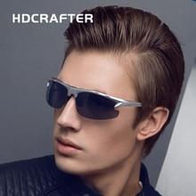 HDCRAFTER  Brand Designer  Fashion Men's Sunglasses Polarized Driving Sun Glasses  Square Goggle oculos Male