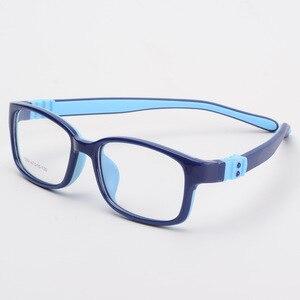 Image 2 - Bclear tr90 실리콘 안경 어린이 유연한 보호 어린이 안경 디옵터 안경 고무 어린이 스펙타클 프레임 소년 소녀