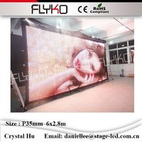 Cina sexy led video cortina P35mm 2.8x6 m led wall display vendite calde xxx video di immagine