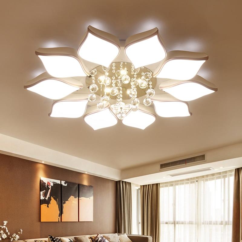 Crystal Modern Led Ceiling Lights For Living Room Bedroom AC85-265V lustre lamparas de techo avize Crystal Ceiling Lamp Fixtures