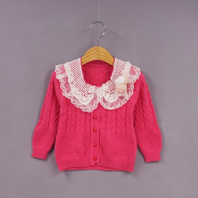 0c1aa1526 3Years Baby Girls Sweaters Cardigans Spring Autumn 100% Cotton ...