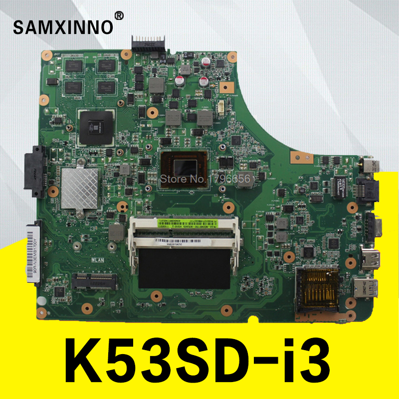 K53SD Motherboard REV: 6.0 i3U GT610M Memory for ASUS K53SD A53S Motherboard Laptop K53SD Motherboard K53SD Tests 100% OK for asus k53sd main board rev 5 1 laptop motherboard intel hm65 nvidia geforce gt610m graphics ddr3 full tested