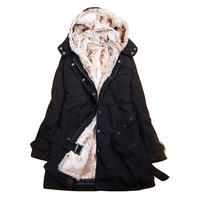 2016 nuevo invierno sobretudo feminino trench coat para las mujeres más el tamaño de espesor invierno cálido forro desmontable otoño larga trinchera