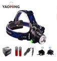 Headlight Cree XM-L T6 LED 2000LM led Headlamp light headlamp flashlight AC Charger Car charger 2 X 18650 battery