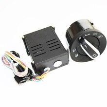 ELISHASTAR samochód Auto reflektor latarka czołowa z czujnikiem przełącznik + moduł sterujący dla V W T5 T5.1 Transporter 2003 2015 5ND941431B