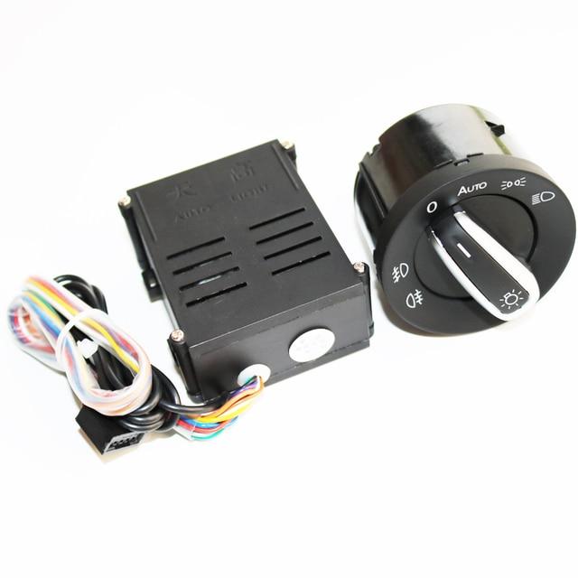 ELISHASTAR سيارة مصباح السيارة الأمامي الاستشعار كشافات التبديل وحدة التحكم ل V واط T5 T5.1 الناقل 2003 2015 5ND941431B